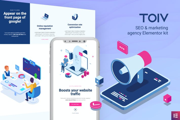 Toiv — SEO & Agencia de Marketing Elementor Template Kit