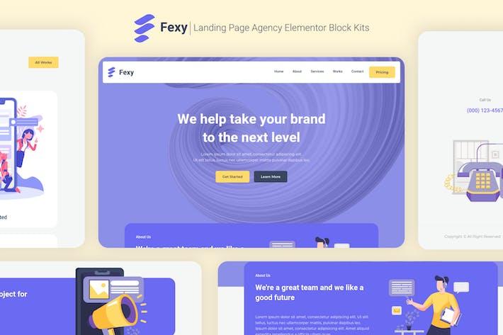Fexy - Agency Landing Page Elementor Block Kit