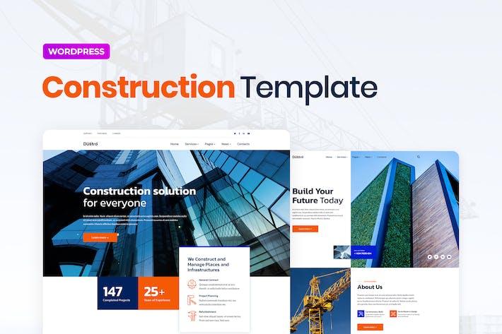 Thumbnail for Dustro — Template Kit Elementor Empresa Constructora