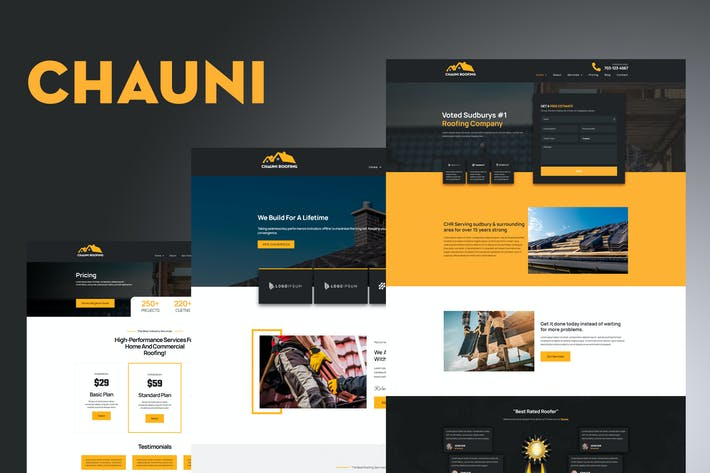Thumbnail for Chauni - Roofing Elementor Template Kit