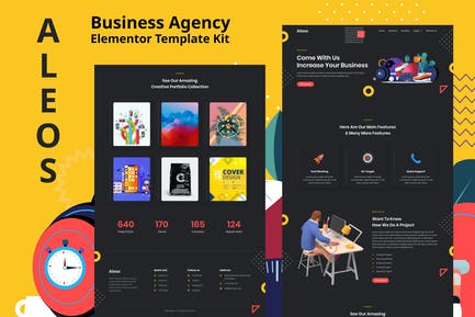 Aleos - Business Agency Elementor Template Kit