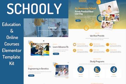 Schooly - Education & Online Courses Elementor Template Kit