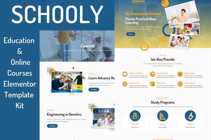 Thumbnail for Schooly - Education & Online Courses Elementor Template Kit
