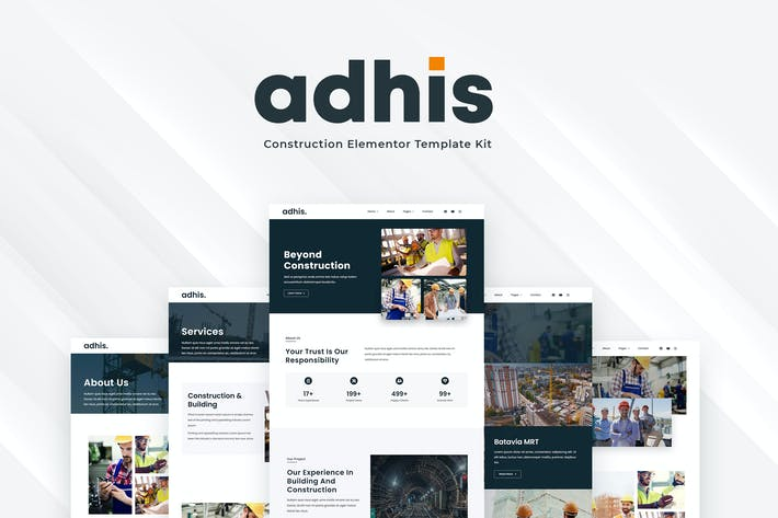 Thumbnail for Adhis - Construction Elementor Template Kit