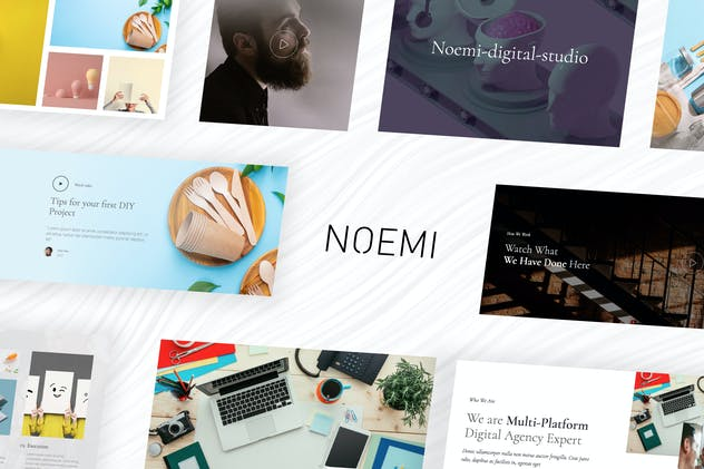 Noemi – Creative Agency & Portfolio Template Kit