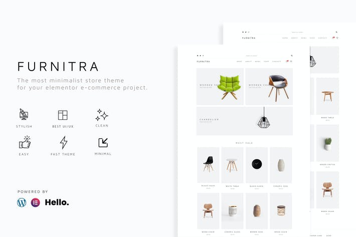 Furnitra - Modern eCommerce Elementor Template Kit
