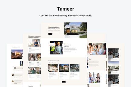 Tammer - Bau & Pflege Elementor Vorlage Kit