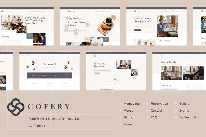 Cofery | Restaurant & Cafe Elementor Template Kit