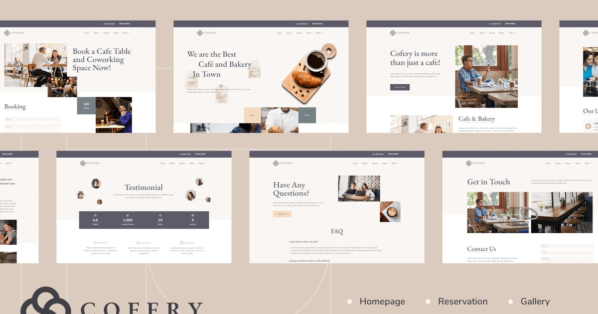 Download Cofery | Restaurant & Cafe Elementor Template Kit by Tokokoo