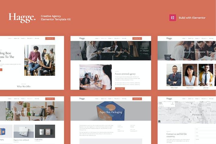 Hagge - Creative Portfolio Elementor Template Kit