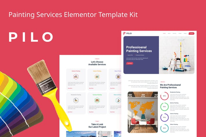 Thumbnail for Pilo - Painting Services Elementor Template Kit