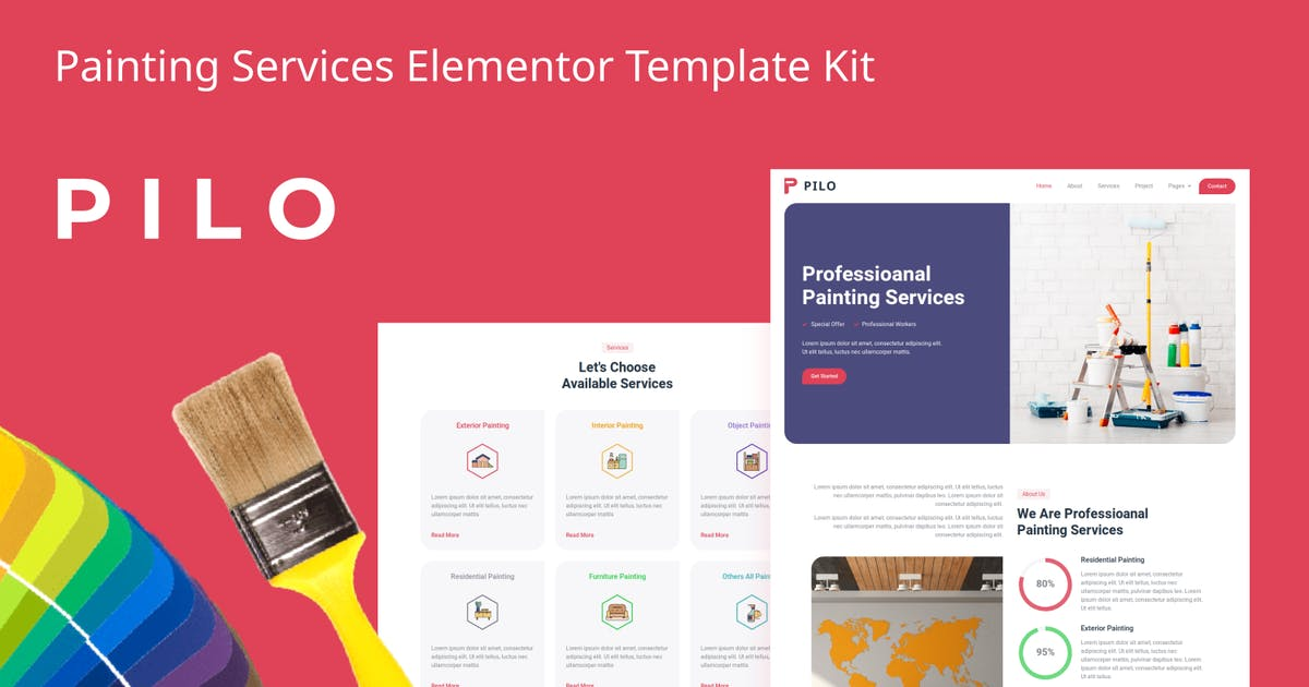 Download Pilo - Painting Services Elementor Template Kit by aStylers