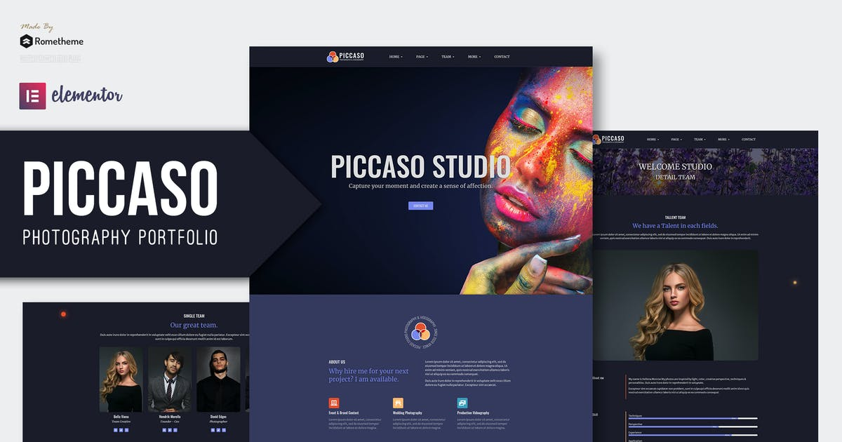 Download Piccaso - Photography Elementor Template Kit by Rometheme