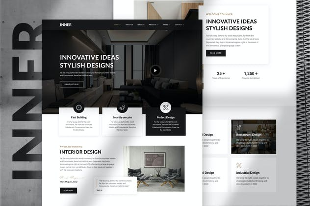 Inner – Interior Design & Architecture Template Kit - product preview 12