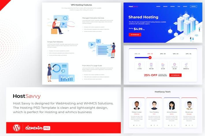 HostSavvy - Webhosting Elementor Template Kit