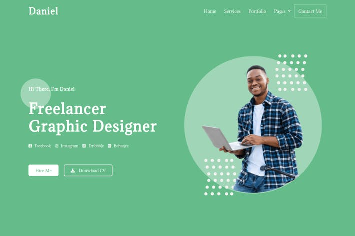 Daniel - Personal Freelancer Elementor Template Kit