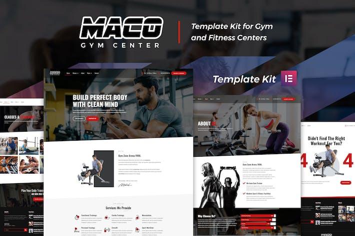 Maco Kit - Gym & Fitness Elementor Template Kit