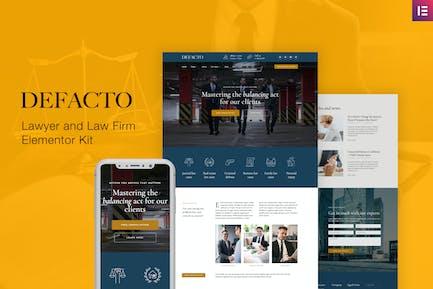 Defacto — Template Kit de abogado y bufete de abogados