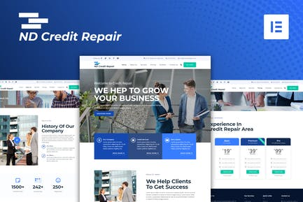 ND Credit Repair - Finance Company Elementor Template Kit