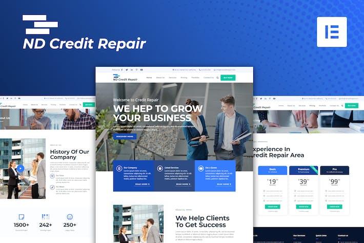 ND Credit Repair - Finanzunternehmen Elementor Template Kit