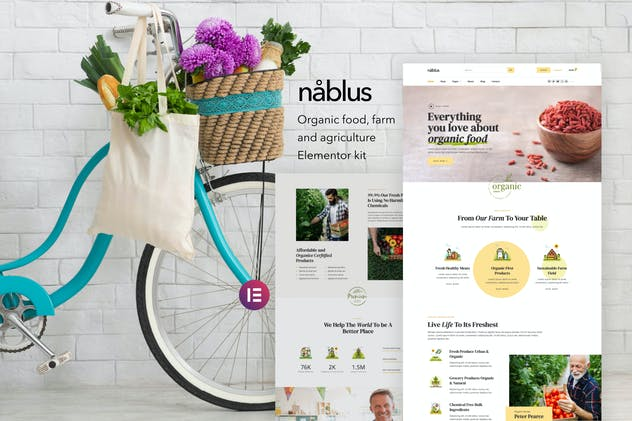 Nablus – Organic Food & Agriculture Template Kit