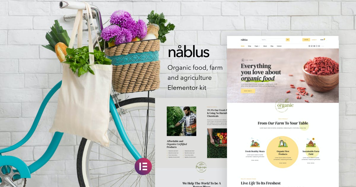 Download Nablus – Organic Food & Agriculture Template Kit by deTheme