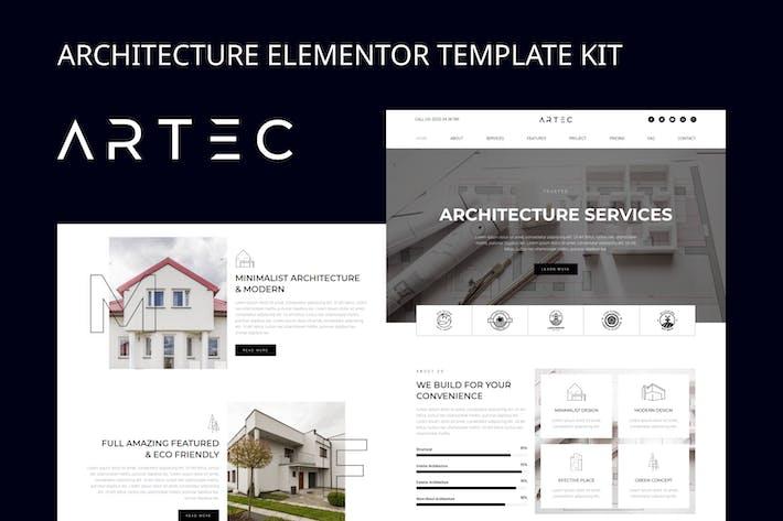 Thumbnail for Artec - Template Kit Elementor de Arquitetura