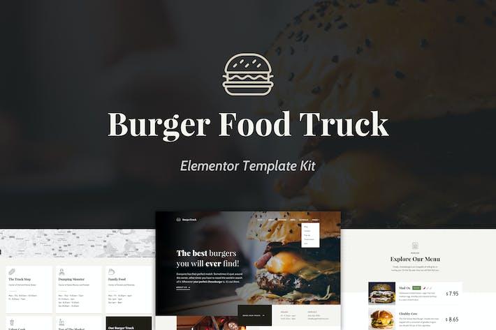 Burger Food Truck - Popup Restaurant Elementor Vorlage Kit
