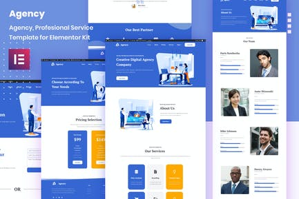 Porto Agency - Creative Digital Business Elementor Template Kit