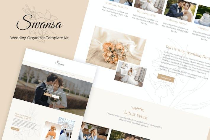 Swansa - Kit de plantillas para elementor de boda