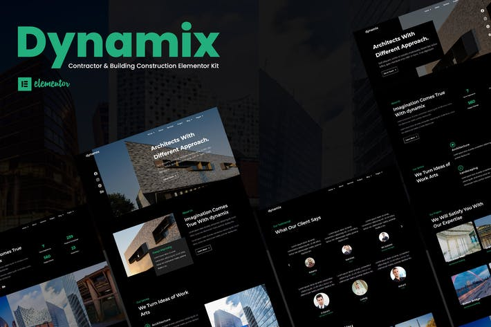 Thumbnail for Dynamix - Architecture Elementor Template Kit