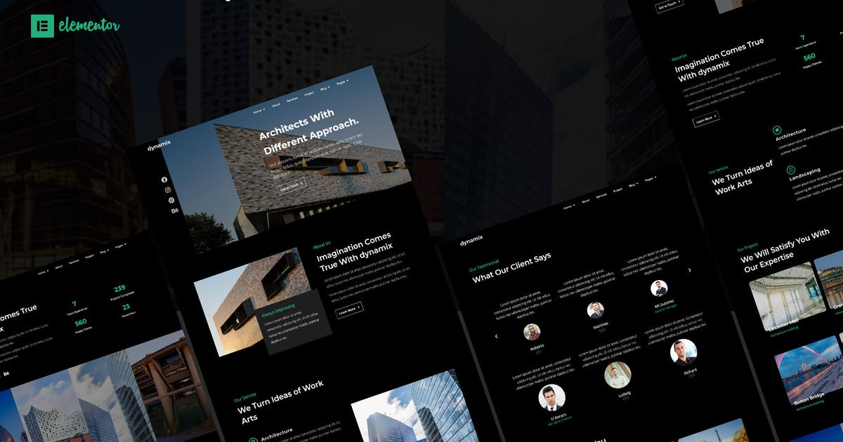Download Dynamix - Architecture Elementor Template Kit by all-fridaystudio