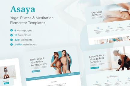 Asaya - Yoga & Meditation Elementor Kit