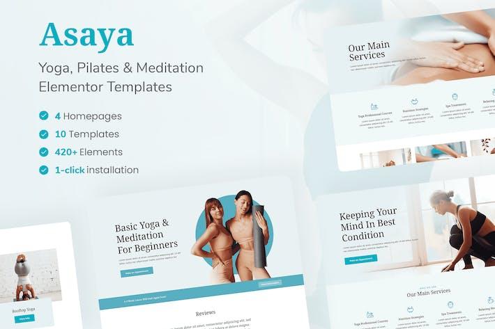 Thumbnail for Asaya - Yoga & Meditation Elementor Kit