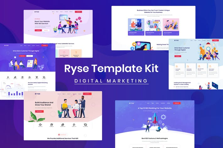 Thumbnail for Ryse - SEO & Digital Marketing Elementor Template Kit