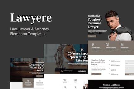Lawyere - Juego de Plantilla legales y abogados