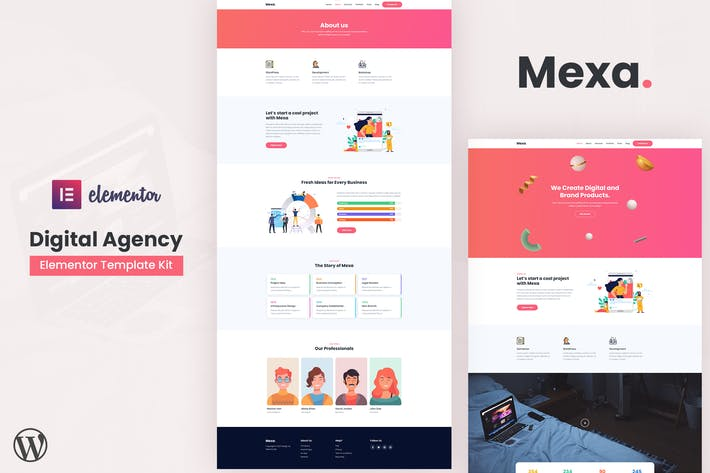 Thumbnail for Mexa - Digital Agency Elementor Template Kit