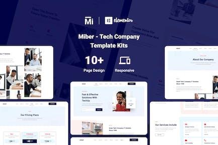 Miber - Tech Company Elementor Template Kit