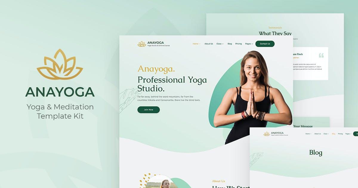Download Anayoga - Yoga Teacher & Studio Elementor Template Kit by jegtheme