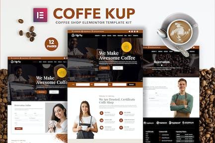 CoffeeKup – Cafe & Coffee Shop  Elementor Template Kit