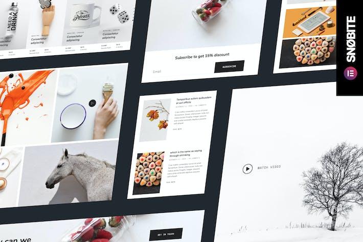 Snobite — Sauberes und minimales Portfolio Elementor Vorlage Kit