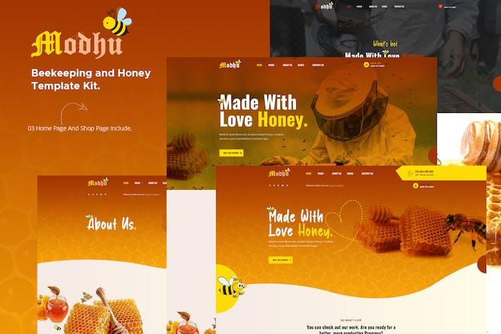 Thumbnail for Modhu - Beekeeping & Honey Elementor Template Kit