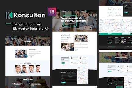 Konsultan Kit - Consulting Business Elementor Template Kit
