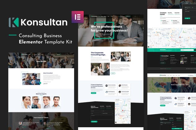 Konsultan Kit - Consulting Business Elementor Template Kit - product preview 5