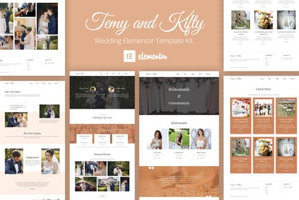 Temy and Kifty Wedding Template Kit