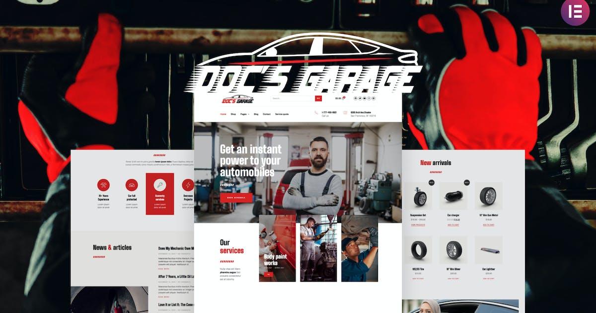 Download Doc's Garage – Car Repair Services Elementor Template kit by deTheme