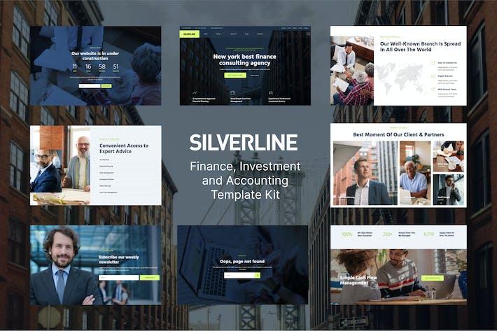 Thumbnail for Silverline – Finance & Investment Elementor Template Kit
