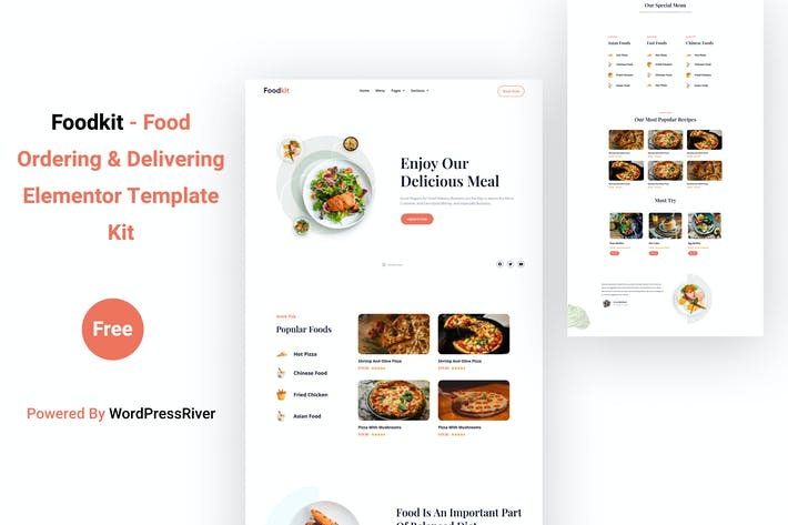 Thumbnail for Foodkit - Food Ordering & Delivering Elementor Template Kit