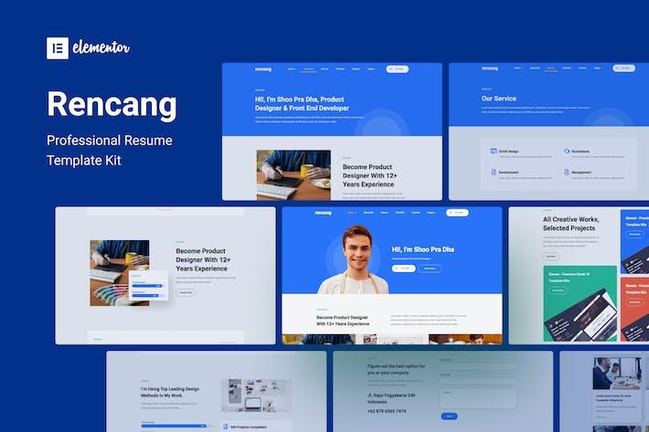 Thumbnail for Rencang - CV & Portfolio Elementor Template Kit