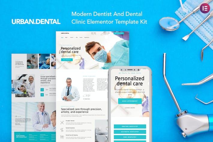 Thumbnail for UrbanDental – Dentist & Dental Clinic Template Kit